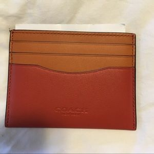 Coach retail color-block card case
